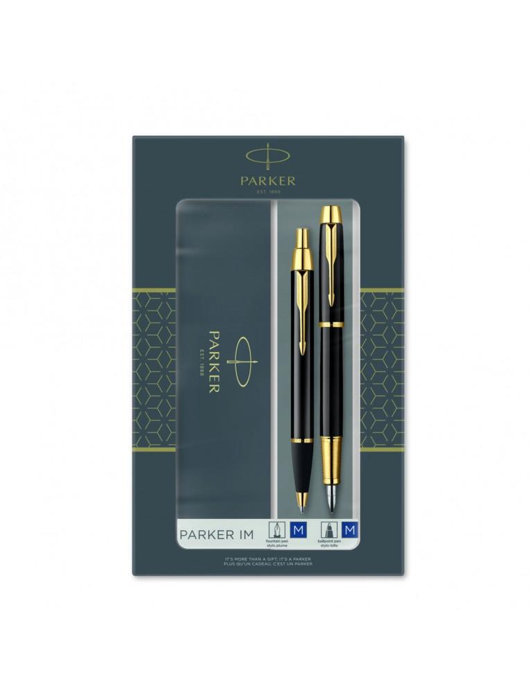 Set penna stilografica e penna a sfera Parker IM Black GT