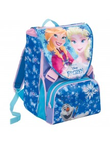 SCHOOLPACK FROZEN MAGIC LIGHT ZAINO + ASTUCCIO 3 ZIP