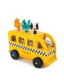 Giochi in legno Tender Leaf Giocattoli Animal Taxi