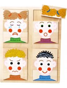 """Puzzle in legno """"Facce"""""""