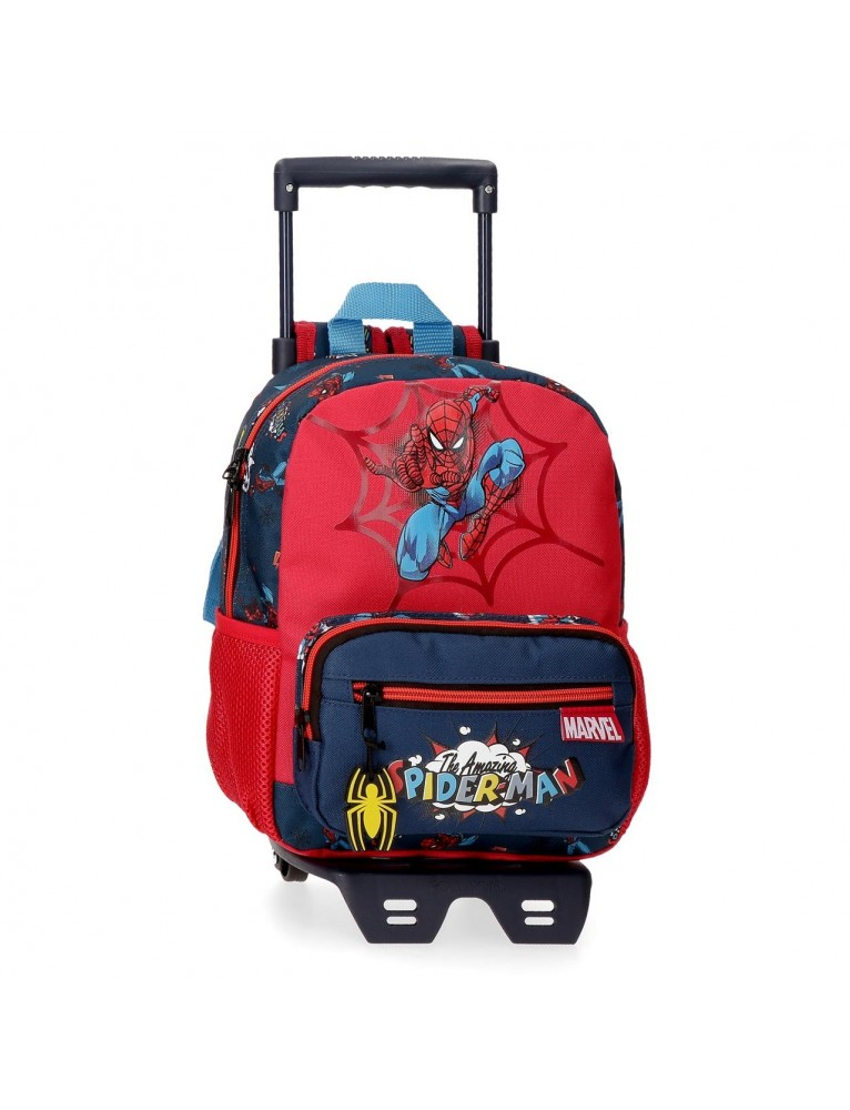 ZAINO 28 CM CON TROLLEY SPIDERMAN POP