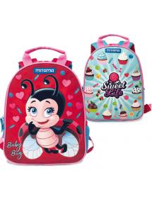 Zaino doppio disegno Mitama spinny laby bug girl.