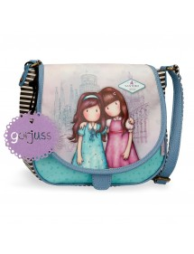 BORSA A TRACOLLA GORJUSS CON PATTA FRIENDS WALK TOGETHER