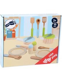 Set stoviglie e pentole Cucina per bambini
