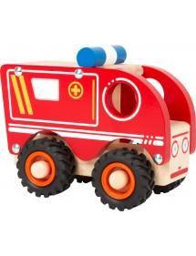 Ambulanza in legno