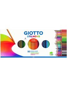 Giotto Stilnovo - Set con 50 matite e 1 temperamatite, Multicolor