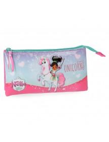 Bustina portapenne  3 Scomparti Nella Unicorn