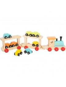 Treno navetta in legno