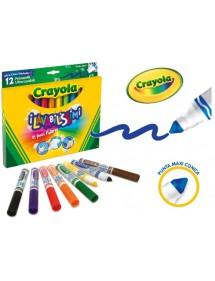 Crayola 12 color fibra lavabilissimi punta max