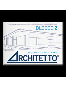 ALBUM BLOCCHI DA DISEGNO ARCHITETTO 2 Liscio riquadrato(110 gr)