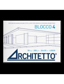 ALBUM BLOCCHI DA DISEGNO ARCHITETTO 4 Liscio Squadrato (220 gr)