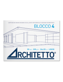 ALBUM BLOCCHI DA DISEGNO ARCHITETTO 4 Liscio  (220 gr)