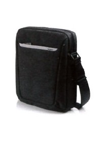 BORSA A TRACOLLA CITY BAG IN TELA NERO