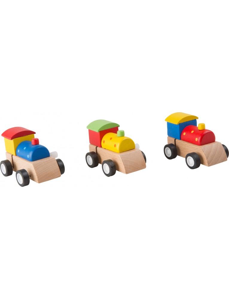 Locomotive con carica in legno