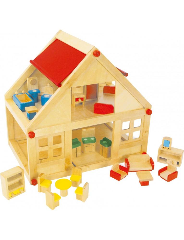 Casa in legno delle bambole