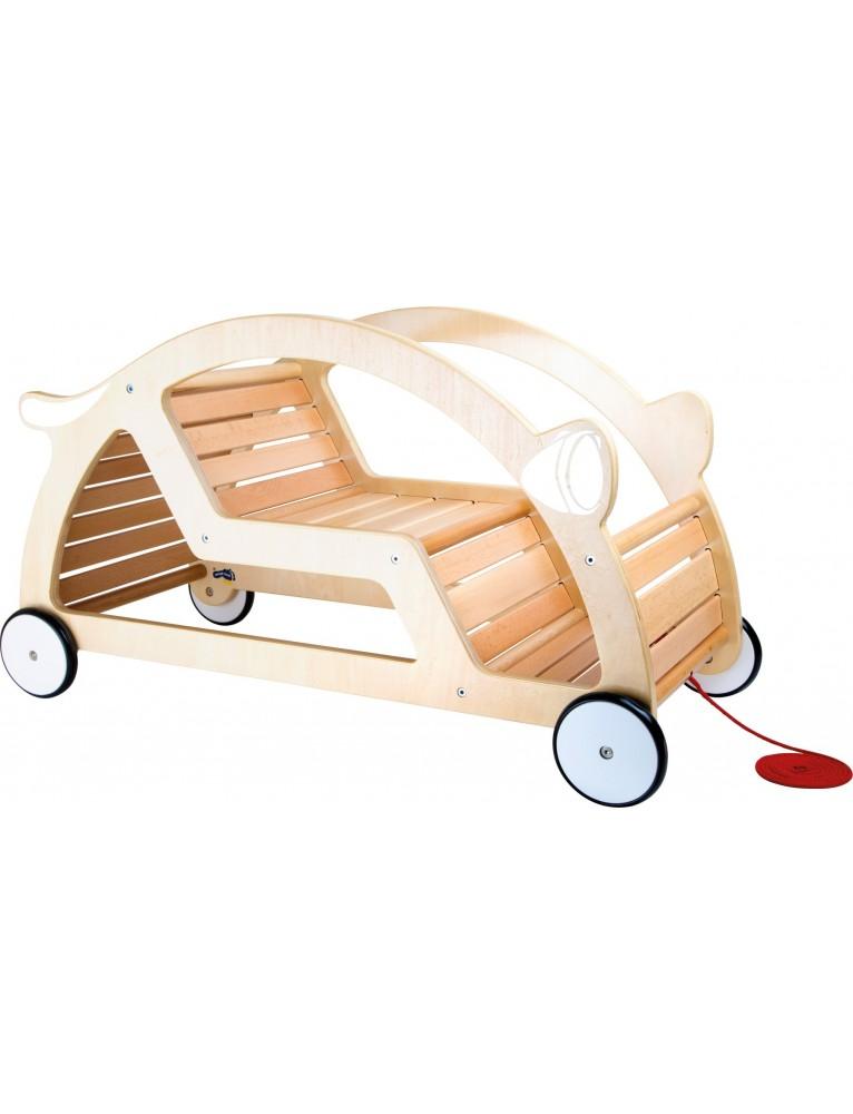 Carretto e altalena in legno