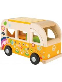 Bus Hippie in legno