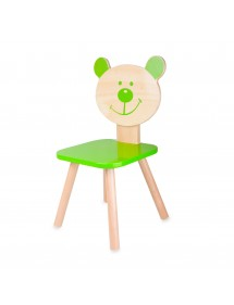 SEDIA BEAR VERDE IN LEGNO CLASSIC WORLD