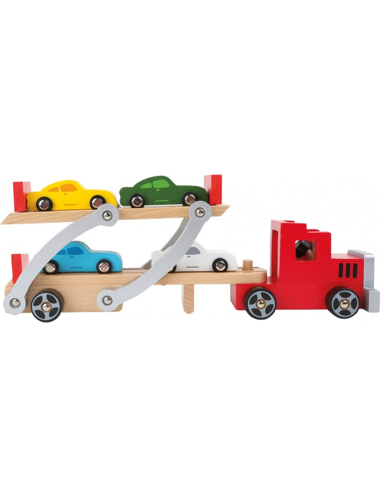 Trasporta automobili in legno