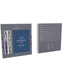 Penna a sfera Parker Jotter Duo RVS e Jotter Waterloo con notebook