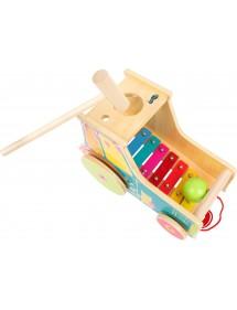 Gioco motricità Trattore incl. xilofono Legno