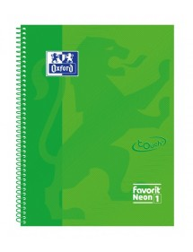 OXFORD QUADERNO SPIRALATO FAVORIT NEON VERDE 1R