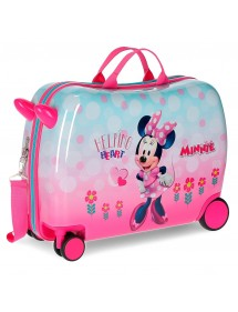 VALIGIA TROLLEY MULTIDIREZIONALE MINNIE HEART DISNEY