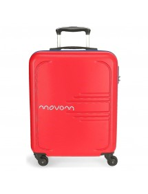 VALIGIA RIGIDA CABINA 55CM MOVOM RED FLASH