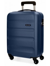 VALIGIA TROLLEY ABS 55CM ROLL ROAD FLEX BLU MARINO