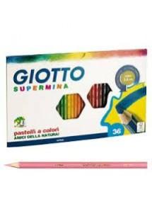 Pastelli Supermina Giotto - assortiti - conf. 36