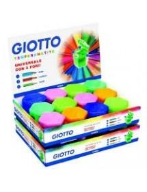 Temperamatite 3 fori Giotto conf. 24 pz colori assortiti