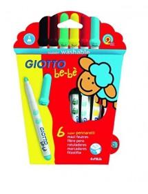 Giotto Bebè- Super pennarelli Astuccio 6 Colori