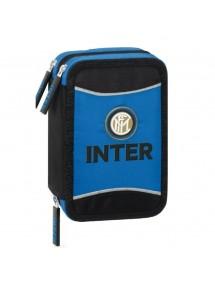 Astuccio Scuola Triplo 3 Zip Inter F.C.   Prodotto Ufficiale Panini