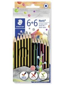 Set Staedtler Noris. Con 6 matite in grafite e 6 pastelli