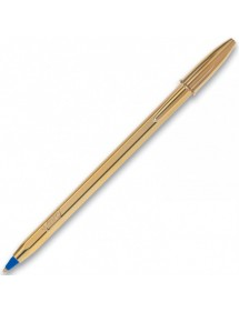 BIC CRISTAL LIMITED EDITION ORO COLORE BLU