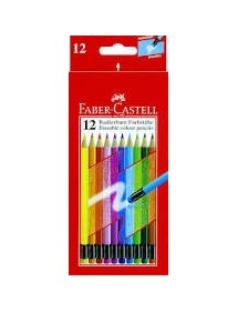 Faber-Castell Matite colorate cancellabili conf. 12