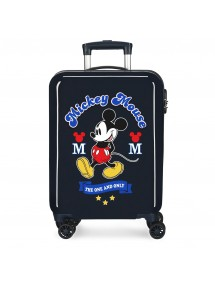 TOPOLINO RIGIDO 55CM THE ONE BLU VALIGIA DA CABINA DISNEY